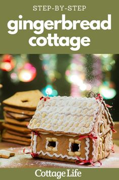 Follow these step-by-step instructions for an easy to build gingerbread house using things you already have at home. #gingerbread #gingerbreadhouse #gingerbreadhouseideas #christmas #CottageLife Gingerbread Decorations, Christmas Decorations, Cottage Crafts, December Holidays, Piping Icing, Cottage Christmas, Holiday Candy, Holiday Looks, Diy Wreath