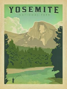Wednesday Inspiration | Anderson Design Group || National Parks Poster Art, Yosemite, Yosemite National Park, California, America, Art and Soul of America