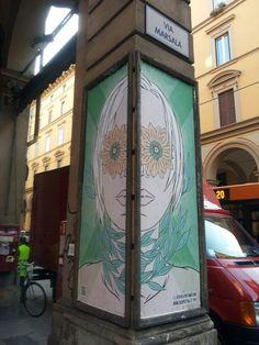 #findingbologna GREEN CHEAP//STREE POSTER ART Bologna #cheapgreen #cheapfestival