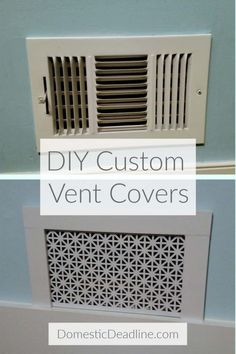 Home Remodeling Diy How to Make Custom Air Vent Covers - Domestic Deadline - Learn how to make custom air vent covers that fit the style of your home instead of metal or plastic big box store vents. Customize to your style Home Renovation, Home Remodeling, Basement Renovations, Kitchen Remodeling, Air Vent Covers, Floor Vent Covers, Moldings And Trim, Up House, House Trim