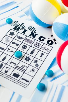 printable july 4th bingo cards