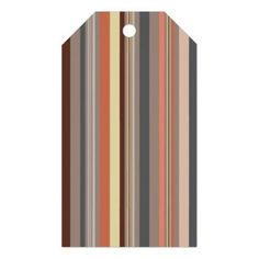 Stripes - Retro Tones Gift Tags - patterns pattern special unique design gift idea diy