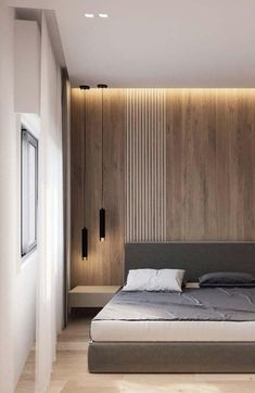 Home Decor Ideas Traditional Stunning, modern and contemporary bedroom design projects. Modern Master Bedroom, Modern Bedroom Decor, Minimalist Bedroom, Contemporary Bedroom, Bedroom Black, Master Suite, Narrow Bedroom, Master Master, Modern Bedrooms