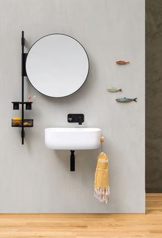 Handy Vertical Bath Storage by Monica Graffeo for Ever by Thermomat