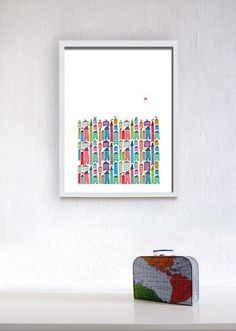 Houses and Birds Print Uncovet #forthehome #design #print