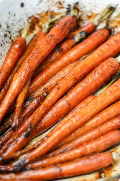 These roasted balsamic carrots make an awesome accompaniment to any main meal. All it takes is fresh carrots, balsamic vinegar and time.