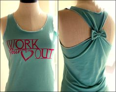 Work your <3 out. Organic Cotton Bow Back Tank