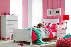 Josephine Single Bed and suite - Harvey Norman Big Girl Bedrooms, Girls Bedroom, Bedroom Decor, Bedroom Ideas, Dream Bedroom, Nursery Ideas, King Single Bed, Single Bedroom, Cute Furniture