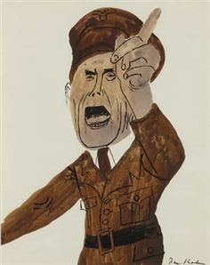 Joseph Goebbels By Ben Shahn ,Circa  1940
