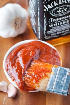 This Jack Daniel's BBQ Sauce is amazing! You will never want to buy store bought bbq sauce again. This sauce is perfect for ribs, wings or any other dish where you love using bbq sauce. Recipe on the blog now! Jack Daniel's Tennessee Whiskey #barbecue #sauce #bbq #JackDaniels #ribsauce #TennesseeWhiskey #wingsauce #ribsauce #barbecuesauce #bbqsauce