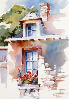 40 Extremely Beautiful Pastel Watercolor Paintings to add some character to your wall than with some Extremely Beautiful Pastel Watercolor Paintings. Take a look and find out for yourself! Watercolor Architecture, Watercolor Landscape Paintings, Watercolor Artists, Watercolor Techniques, Watercolour Painting, Landscape Art, Watercolors, Pastel Paintings, Beautiful Paintings
