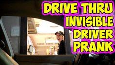 Drive Thru Invisible Driver Prank bahaha the 3rd and 7th are soooooo funny!!!