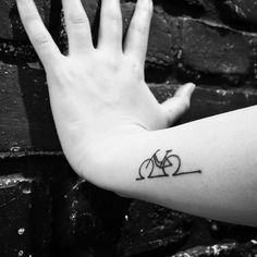 #tattoo #bicycle #ride #ideas #outline #hand #wrist #creative