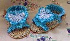 Crochet Sandals with Butterfly for Baby pattern pdf di Nekomaru85