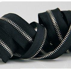 #5 Zipper Black fabric cloth Silver teeth metal zipper open end for sewing 2M / lot zipper for clothes handbag shoes Garment