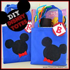 Mom On Timeout: {DIY} Disney Tote Bags! {Craft}