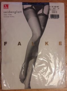 db57f3a71 Extra Off Coupon So Cheap Falke Stockings Graphite (Barely Black) Size  Med Large deep patterned Welt New