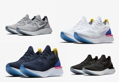 promo code 778e0 a2f9c Nike Epic React Flyknit Sizes 8-13 White Blue Black Gray Mens running Shoes  New