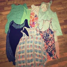 Tank bundle! 7 cute tank tops just in time for summer! All are listed individually in my closet as well. Tops Tank Tops