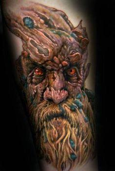 a treebeard tattoo to start a lotr sleeve? awesome.