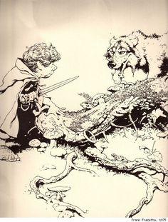 Il Signore degli Anelli illustrato da Frank Frazetta | Kipple Officina Libraria
