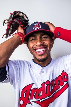 Smile And Keep Your Eye On The Baseball Pictures Gallery Baseball Videos, Baseball Pictures, Baseball Players, Baseball Cards, Cleveland Indians Baseball, Lindor, Spring Training, Mlb, Puerto Rico