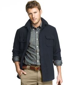 Cotton Flannel Work Shirt: SHIRTS | Free Shipping at L.L.Bean Signature