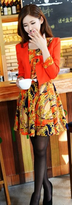 free belt blazer dress set sale ghl0055