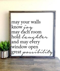 Painting quotes on wood diy wooden signs 36 Ideas Diy Wood Signs, Wall Signs, Wooden Signs For Home, Home Wood Sign, Custom Wooden Signs, Home Decor Signs, Diy Home Decor, Canvas Signs, Wooden Diy