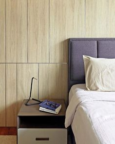 Penthouse Apartment, Marble Wall, Stylish Bedroom, Floating Nightstand, House Tours, Bedrooms, Minimalist, Colours, Spaces