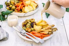 Vegan Gravy - A gorgeous gravy with thyme, rosemary and lemon perfect for drawing your roast vegetables and mash potato in!