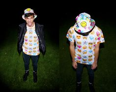 Tim T - Emoji Shirt, Buffalo Platforms, Cheap Monday Skinny Jeans -  all emoji e'rything