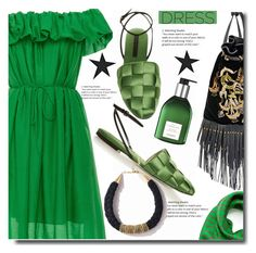 """""""Green is fun"""" by soks ❤ liked on Polyvore featuring Paule Ka, Marco de Vincenzo, Mulberry, Hermès and polyvoreeditorial"""