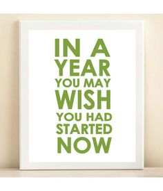 I need this reminder. Lime In A Year print poster by AmandaCatherineDes on Etsy, $15.00
