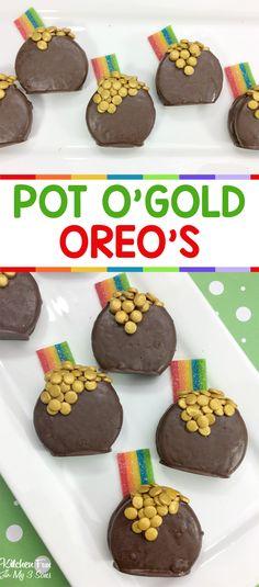 St. Patrick's Day Pot of Gold Oreos #stpatricksday #oreos