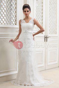 Awesome A-line Bateau Chapel Tulle Talines Wedding Dress