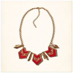 Hollister boho necklace Red glam boho necklace. Very nice quality! Brand new. Hollister Jewelry Necklaces