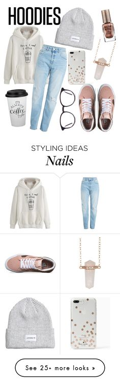"""It's cold"" by heyheytommo on Polyvore featuring Vans, Kate Spade, Shashi, Barry M and Hoodies"