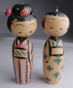 KOKESHI DOLL BOY and GIRL.  I HAVE THESE VERY ONES.