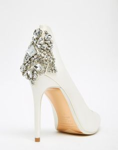 8a2fcdb71 Image 3 of Ted Baker Mieon Tie The Knot Bridal Embellished Heel Leather Court  Shoes Ted