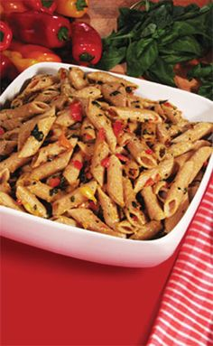 Pero Family Farms®  Mini Sweet Pepper Pesto Pasta--A delicious pasta with a light Mini Sweet Pepper Pesto!