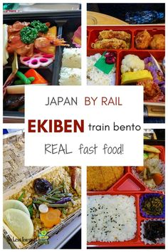 Japan travel + Japanese food | Ekiben 駅弁 + soraben bento boxes - delicious & nutritious Japanese food for when you're on the go, travelling by train or air. Ekiben are bento boxes especially for train travel & you will find soraben (sky bento) at Japanese airports for domestic flights. Find out more by clicking through.