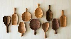 Tea scoop spoons, modern by Tatsuya Aida