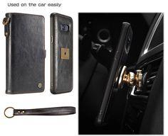 CaseMe Samsung Galaxy S8 Plus Wallet Detachable Wrist Strap Case