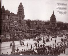 Angkor Vat temple reproduction in Paris, for Colonial Exhibition in 1931 Angkor Vat, Angkor Temple, 1 Century, Khmer Empire, French Colonial, Phnom Penh, Expositions, France, World's Fair