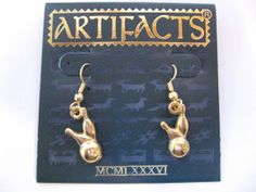 Jonette Jewelry Vintage Bowling Earrings by SideEffectsNY on Etsy, $15.00