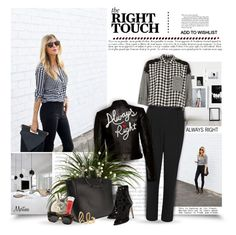 """""""Always Right"""" by thewondersoffashion ❤ liked on Polyvore featuring River Island, Alice + Olivia, Versace, Little Liffner, Rebecca Minkoff, Lancôme, Illesteva, Chloé, rebeccaminkoff and BloggerStyle"""
