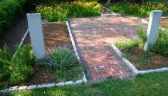Reclaimed brick patio