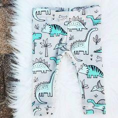 Dinosaur leggings - Unisex Kids Clothing - Newborn boy leggings - Organic leggings - Toddler Pants  - Girls Leggings - Baby Shower Gift by MamisLittleMuse on Etsy https://www.etsy.com/listing/259145937/dinosaur-leggings-unisex-kids-clothing