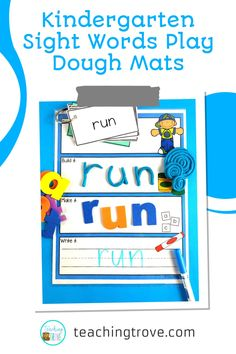 These sensory mats are perfect for your back to school prep, and cover every classroom theme for the year. Use a multi-sensory approach to teaching sight words. These sight word mats require the student to read the word, build it with play dough, make it with letter tiles and write the word. Whether you use Dolch sight words, Fry sight words or your school list words, you create the totally editable word cards. #sightwords #sensorymats #kindergarten Word Work Games, Word Work Activities, Reading Activities, Hands On Activities, Teaching Sight Words, Dolch Sight Words, Teaching Phonics, Student Learning, Fun Learning